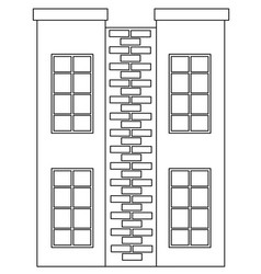 A simple house outline vector