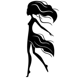 Abstract graceful girl in motion vector