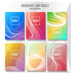 abstract layout cover background collection vector image