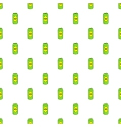 Aluminum beer pattern cartoon style vector