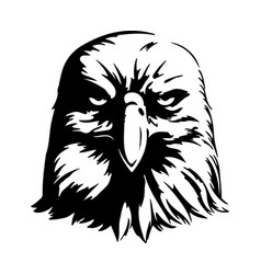 Angry eagle vector