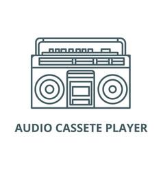 audio cassete player line icon audio vector image