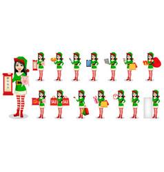 beautiful woman in costume of elf vector image