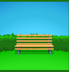 Bench on grass vector