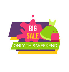 Big sale only this weekend for female clothes vector