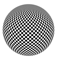black and white 3d ball vector image vector image