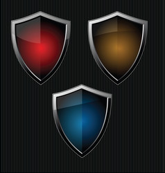 black shield retro vintage black design collection vector image