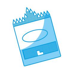 Box of crayons icon vector
