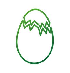 Broken chicken egg food farm vector
