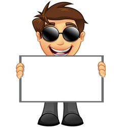 Business Man Blank Sign 10 vector image