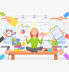 Business poster with woman on vector