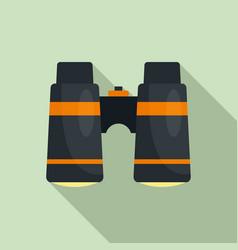 camp binocular icon flat style vector image