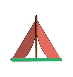 camping tent icon image vector image vector image