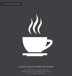 cap of tea premium icon white on dark background vector image