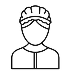 care nurse icon outline style vector image