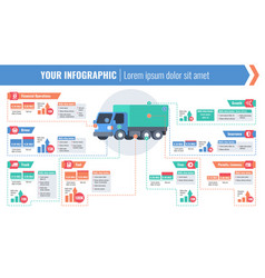 cargo logistic horizontal infographic vector image