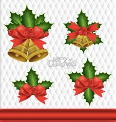 Christmas Bells Element Background vector image