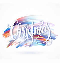 Christmas calligraphy handwriting lettering on the vector