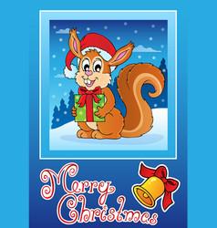 christmas theme greeting card 8 vector image