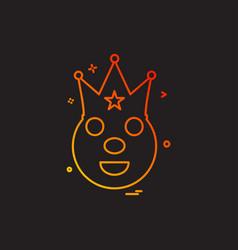 clown icon design vector image