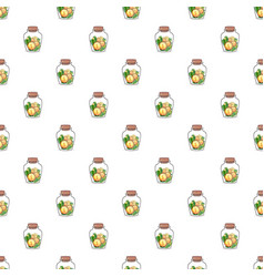 coin in jar pattern vector image