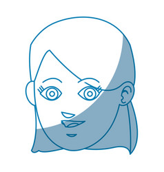 drawing face girl smile avatar design vector image