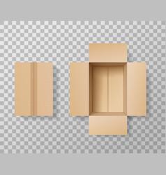 Empty box realistic mockup transparent background vector