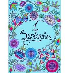 First september background colorful vector