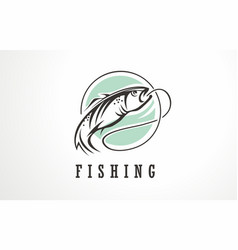 fishing symbol icon sign or logo vector image