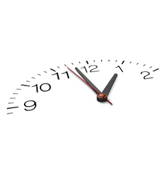 From one side view part clock face vector