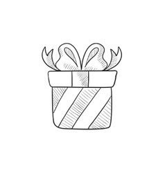 Gift box sketch icon vector image