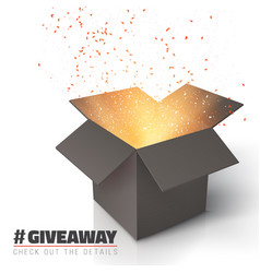 Giveaway competition template open box vector
