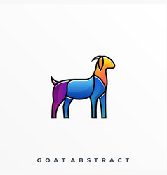 goat abstract template vector image