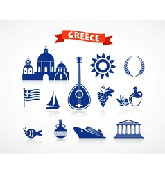 Greece - icon set vector