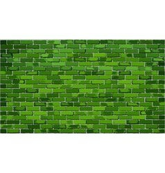 Green brick wall vector