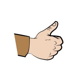 Hand make thumb up comic vector