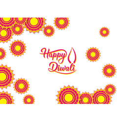happy diwali traditional indian festival greeting vector image