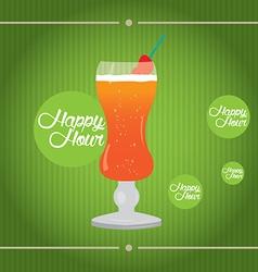 Happy hour vector image