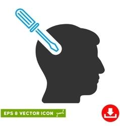 Head Surgery Screwdriver Eps Icon vector