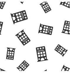 hotel seamless pattern background business flat vector image