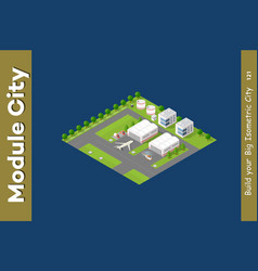 isometric city 3d airport vector image