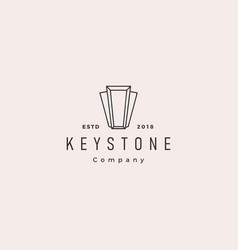 Keystone key stone logo hipster retro vintage vector