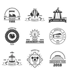 leisure time park banners vector image