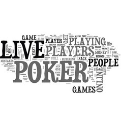 Livepoker text background word cloud concept vector