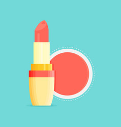 Makeup beauty lipstick tube accessory lipstick vector