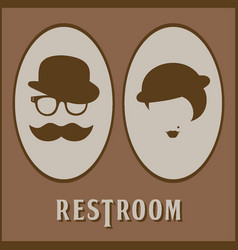 male and female restroom symbol icon flat design vector image