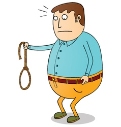 Man with rope vector