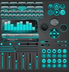 media player elements vector image