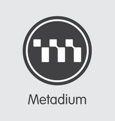 Meta - metadium the logo of money or market vector