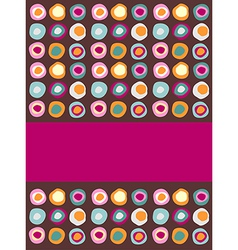 Multicolored dots background vector